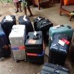Bags for departure at Matira Bush Camp, Maasai Mara Nature Reserve, Kenya