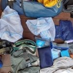 Luggage during safari trip, BaseCamp Explorer, Masai Mara, Kenya