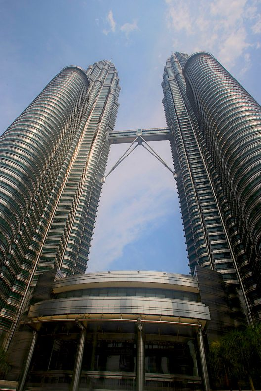 Outside of Petronas Twin Towers