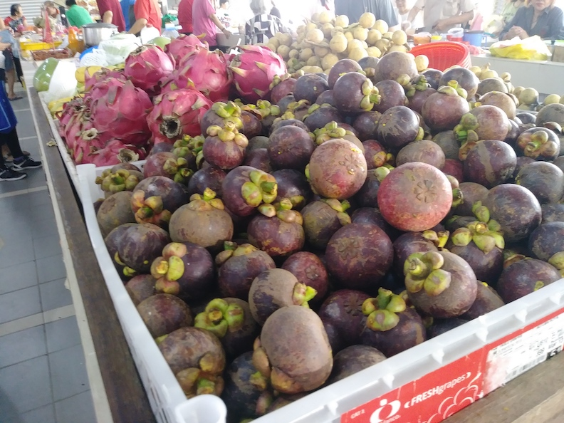 Mangosteen at the Market