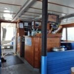 Galley inside Island Packers Catamaran